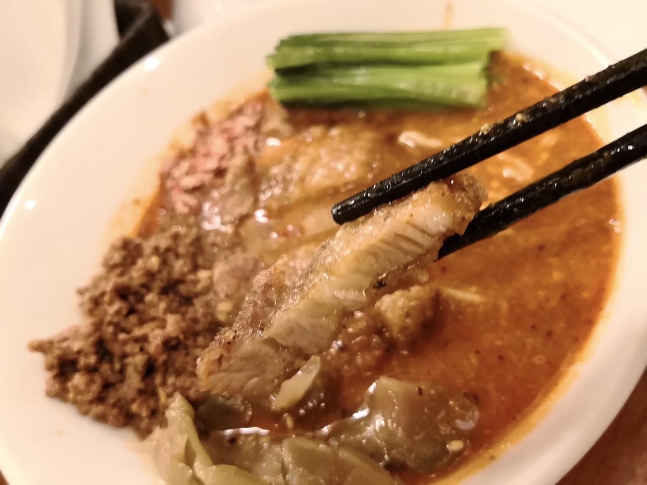 パーコー(排骨)アップ パーコー担々麺東京中野