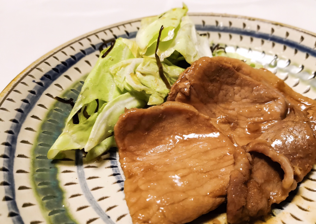 ローソンセレクト 生姜の風味をしっかりきかせたタレで味付けた 豚ロースの生姜焼き