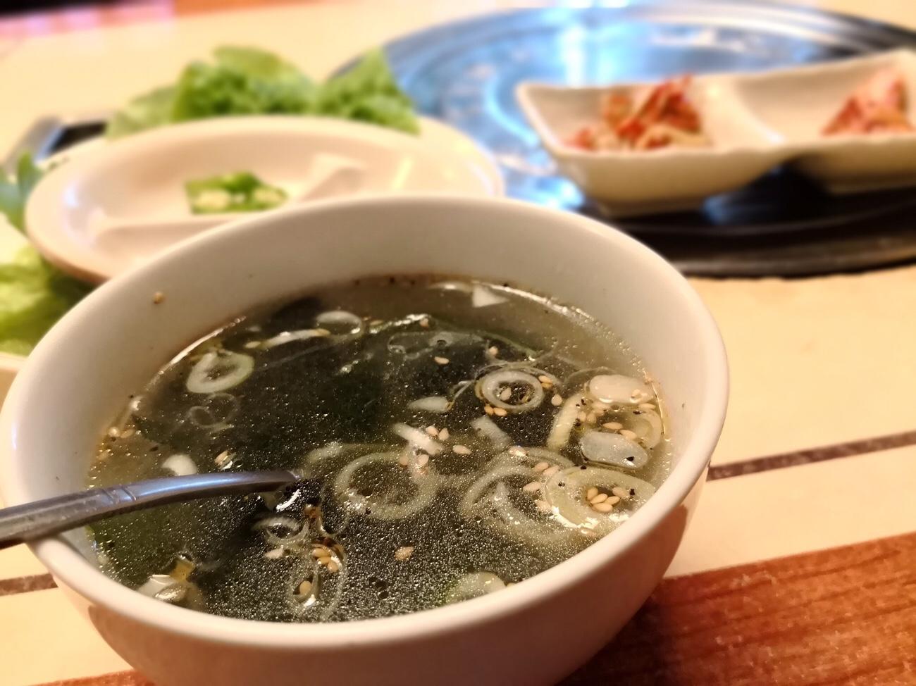 五反田王豚足家のランチスープ