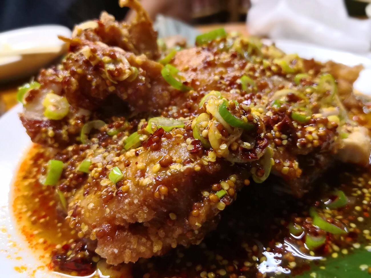 町中華埼玉ラーメン かし亀のおすすめ油淋鶏 かぞ