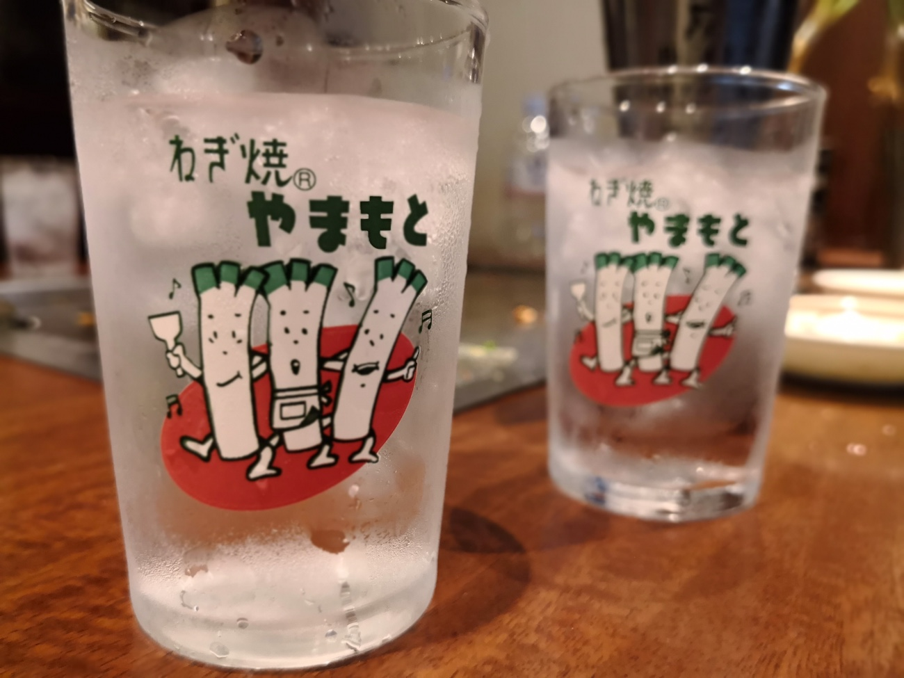 ねぎ焼きやまもとのグラス
