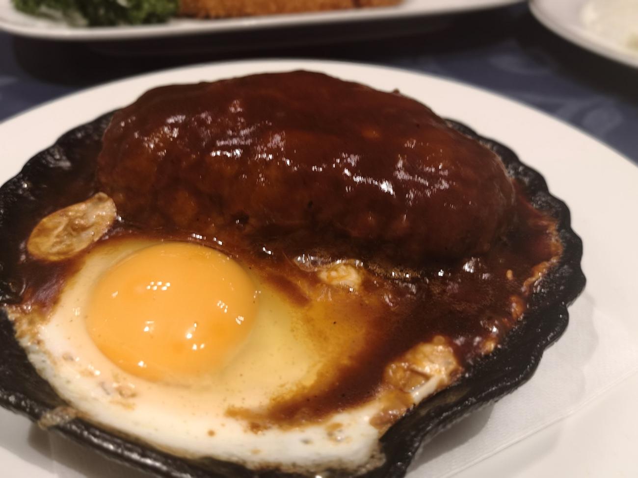 洋食キムラ新横浜のハンバーグ