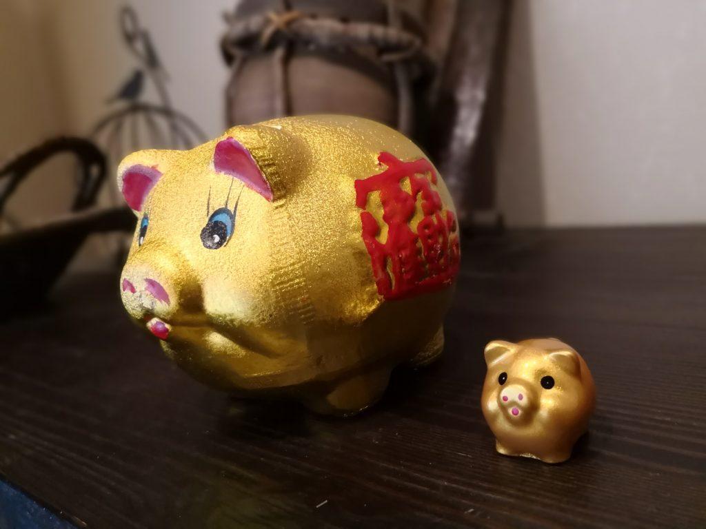 金の豚の貯金箱 春節 豚年 横浜中華街