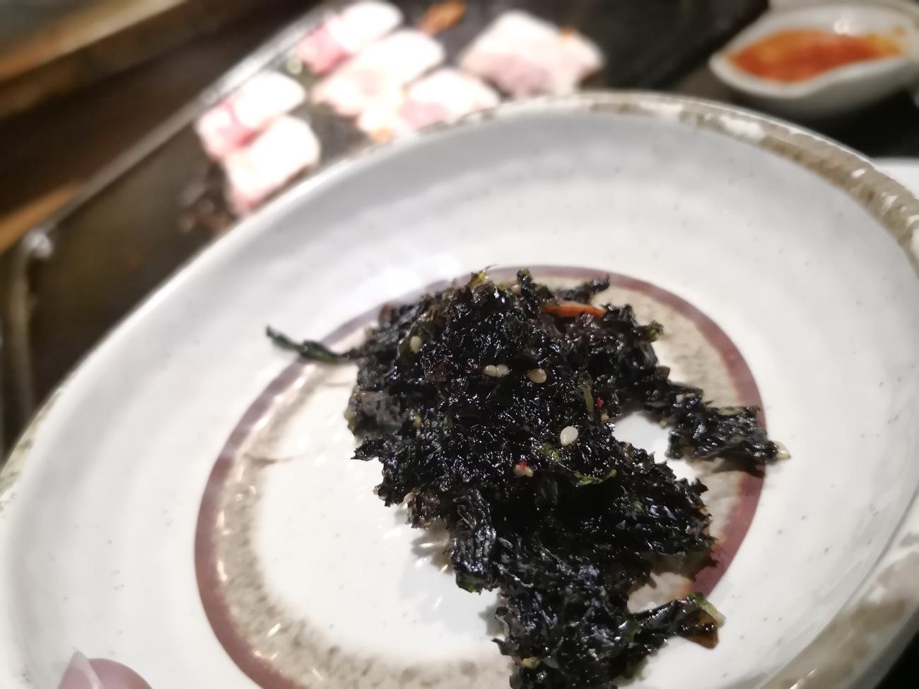 韓国海苔の佃煮 新大久保ランチ食べ放題